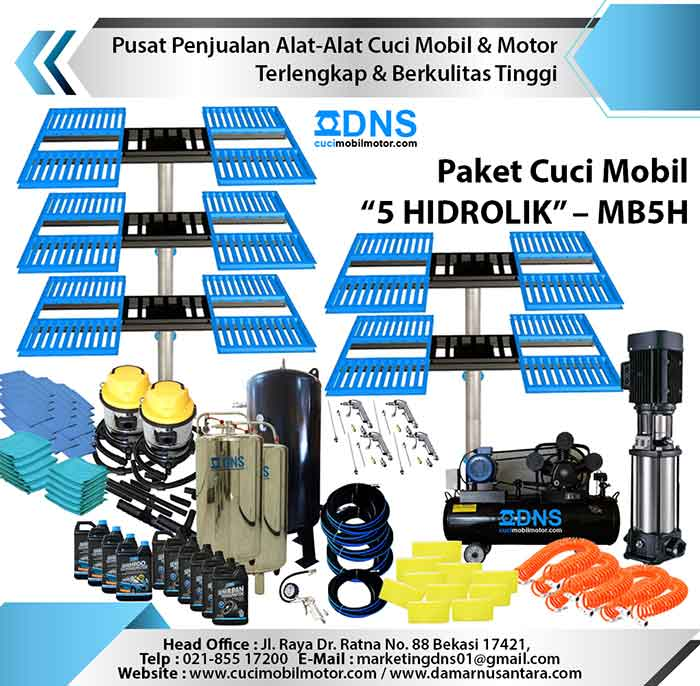 "Paket Cuci Mobil ""5 HIDROLIK"" – MB5H"