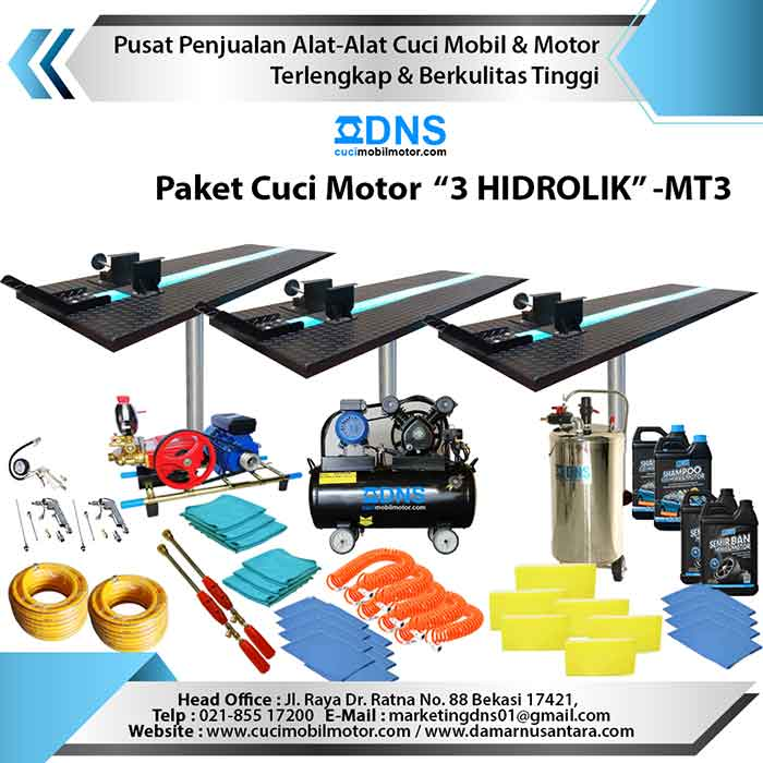 Paket Cuci Motor 3 HIDROLIK – MT3