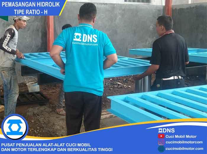 Proses Pemasangan Hidrolik Ratio-H di Bandung