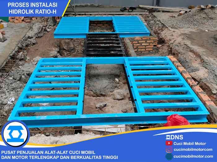 Proses Pemasangan Hidrolik Ratio-H di Jakarta Pusat