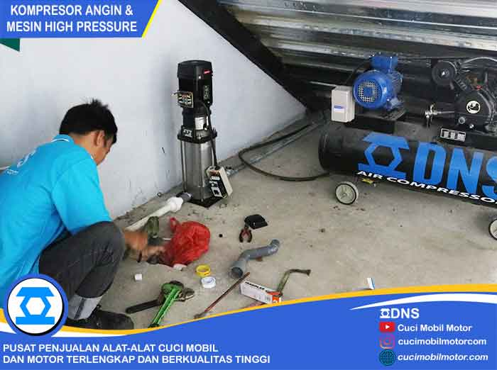 Proses Installasi Mesin High Pressure & Kompresor Angin