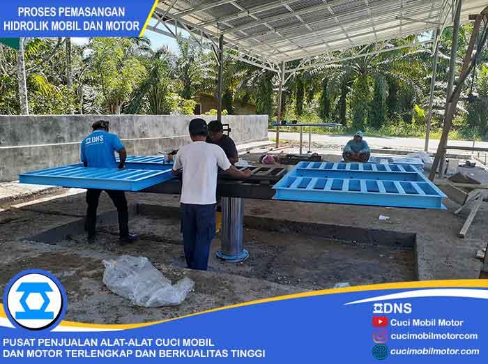 Proses Pemasangan Hidrolik Ratio-H di Bengkulu