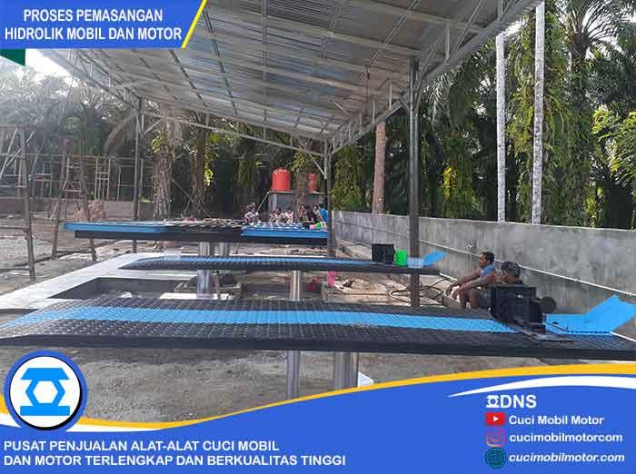 Proses Pemasangan Hidrolik Motor di Bengkulu